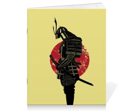 """Тетрадь на скрепке """"Самурай"""" - самурай, воин, япония"""