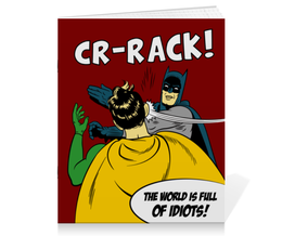 """Тетрадь на скрепке """"Бэтмен и Робин. Пощёчина"""" - прикольные, batman, мемы, бэтмен, бэтмен и робин"""