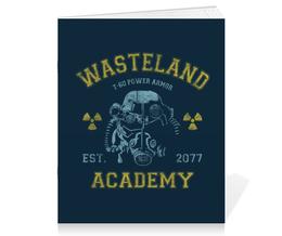 "Тетрадь на скрепке ""Fallout. Wasteland Academy"" - игры, fallout, геймерские, wasteland academy, t-60"