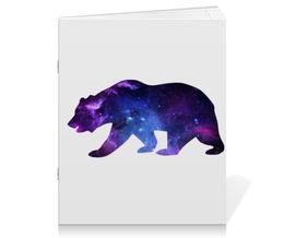 "Тетрадь на скрепке ""Space animals"" - space, bear, медведь, космос, астрономия"