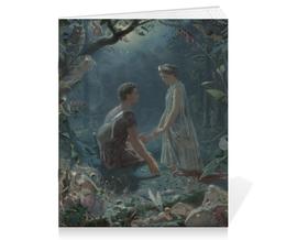"Тетрадь на скрепке ""Гермия и Лизандр (Шекспир) (Джон Симмонс)"" - картина, шекспир, симмонс"