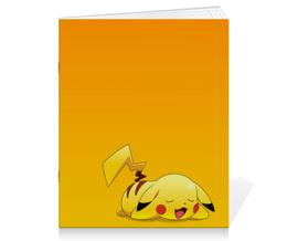 """Тетрадь на скрепке """"Пикачу"""" - pokemon, покемон, пикачу, анимэ, pikachu"""