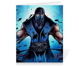 "Тетрадь на скрепке ""Mortal Kombat X (Sub-Zero)"" - воин, боец, mortal kombat, sub-zero"