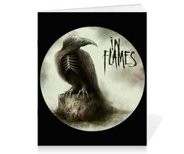 "Тетрадь на скрепке ""In Flames"" - рок, часы, in flames, ворон, ин фламес"
