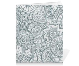 """Тетрадь на скрепке """"Джунгли"""" - цветы, узоры, орнамент, растения, джунгли"""