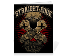 "Тетрадь на скрепке ""Straight Edge"" - hardcore, sxe, straight edge"