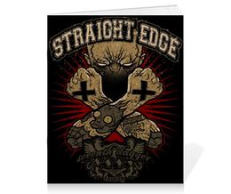 """Тетрадь на скрепке """"Straight Edge"""" - hardcore, sxe, straight edge"""