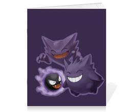 "Тетрадь на скрепке ""Эволюция Гастли"" - pokemon go, покемон го, gastly, генгар, хонтер"