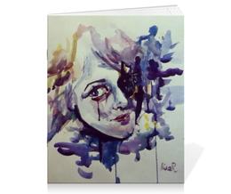 """Тетрадь на скрепке """"акварель """" - арт, рисунок, абстракция, иллюстрация, художник"""