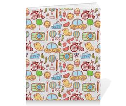 """Тетрадь на скрепке """"Детское ассорти"""" - дети, детский, машина, велосипед, цыплёнок"""