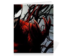 """Тетрадь на скрепке """"Карнаж (Carnage)"""" - комиксы, marvel, марвел, карнаж, carnage"""