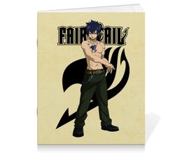 "Тетрадь на скрепке ""Грей Фуллбастер. Fairy Tail"" - аниме, манга, fairy tail, хвост феи, грей фуллбастер"