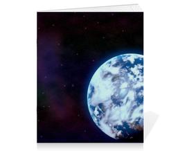 """Тетрадь на скрепке """"Space"""" - космос, вселенная, космический, nasa, thespaceway"""