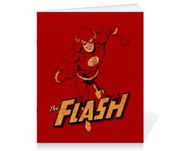"""Тетрадь на скрепке """"Флэш """" - flash, комиксы, супергерои, флэш"""