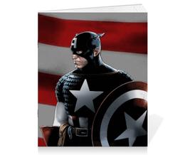 "Тетрадь на скрепке ""Marvel"" - комиксы, marvel, капитан-америка"
