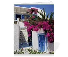 """Тетрадь на скрепке """"""""Греция. Остров Санторини"""""""" - цветы, путешествия, travel, греция, санторини"""