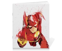 "Тетрадь на скрепке ""Флэш (Flash)"" - flash, комиксы, dc comics, флэш, барри аллен"