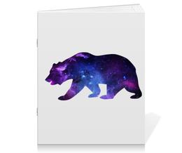 """Тетрадь на скрепке """"Space animals (двухсторонняя печать)"""" - space, bear, медведь, космос, астрономия"""