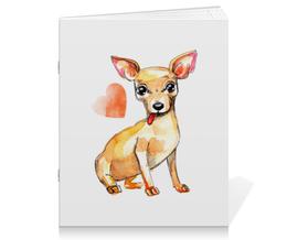 """Тетрадь на скрепке """"Pam-pam-pam-pa-pa... Chihuahua!"""" - арт, чихуахуа, собака"""
