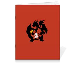 "Тетрадь на скрепке ""Чармандер"" - pokemon, покемон, анимэ, чармандер, charmander"