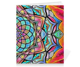 """Тетрадь на скрепке """"Mandala HD2"""" - узор, ретро, классика, этно, симметрия"""