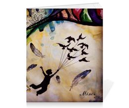"""Тетрадь на скрепке """"Minor collection"""" - рисунок, полет, графика, фантазия"""