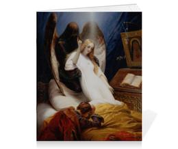 """Тетрадь на скрепке """"Ангел Смерти (Орас Верне)"""" - картина, верне"""