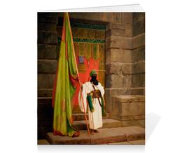 "Тетрадь на скрепке ""Флаг Пророка (Жан-Леон Жером)"" - картина, жером"