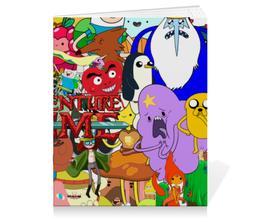 """Тетрадь на скрепке """"Adventure Time"""" - мультфильм, коллаж, для детей, adventure time"""