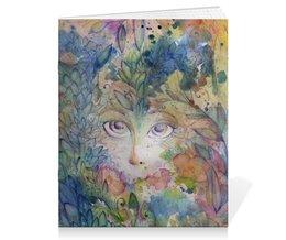 """Тетрадь на скрепке """"лесной дух"""" - рисунок, лес, акварель, волшебство, fantezy"""