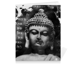 """Тетрадь на скрепке """"Будда (Письмена)"""" - философия, религия, buddha, будда, духовность"""