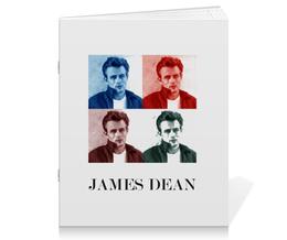 "Тетрадь на скрепке ""Джеймс Дин James Dean"" - стиль, ретро, кино, джеймс дин, james dean"