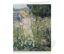 "Тетрадь на скрепке ""Маргарита Гаше в саду (Винсент Ван Гог)"" - картина, ван гог, живопись"