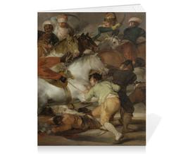 """Тетрадь на скрепке """"Восстание 2 мая 1808 года в Мадриде (Гойя)"""" - картина, гойя"""
