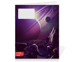 "Тетрадь на скрепке ""Космос 2100"" - space, планета, космос, cosmos, космонавт"