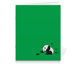 "Тетрадь на скрепке ""Панда"" - животные, медведь, панда, panda"