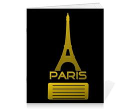 """Тетрадь на скрепке """"PARIS"""" - географія"""