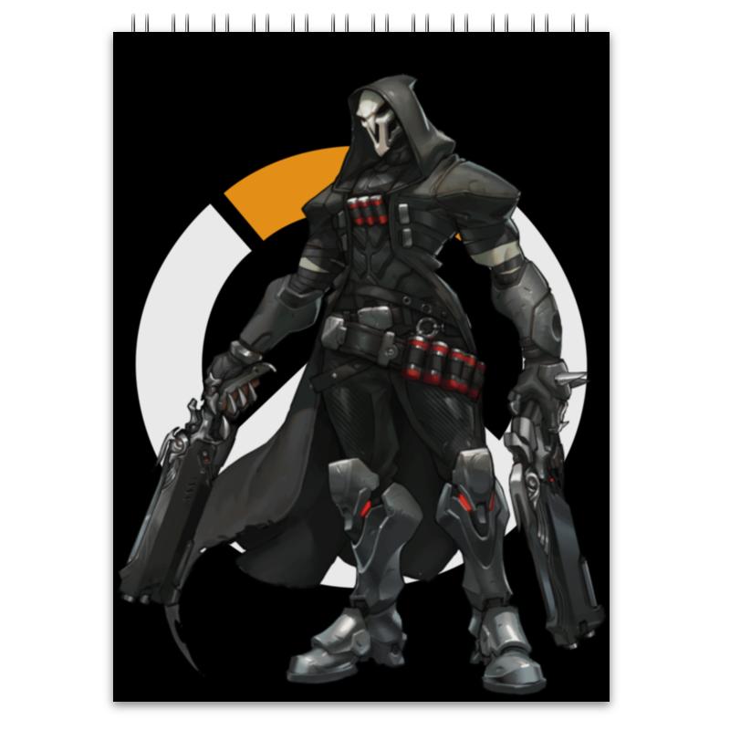 Блокнот Printio Overwatch reaper / жнец овервотч