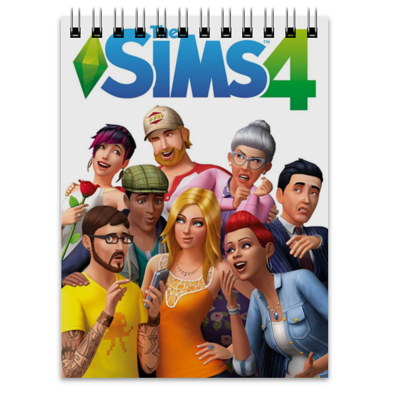 Блокнот Printio The sims 4 электронный ключ microsoft the sims 4 внутренний дворик