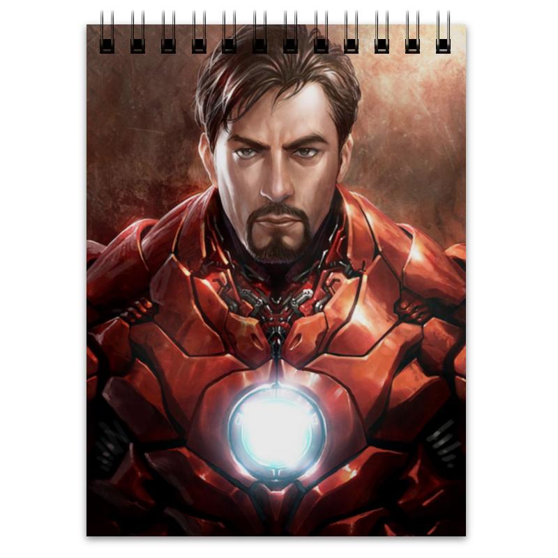 купить Блокнот Printio Железный человек по цене 170 рублей