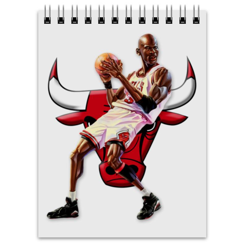 Блокнот Printio Michael jordan cartooney баскетбольные кроссовки air jordan aj1 og chicago 555088 101