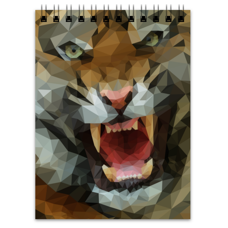 Блокнот Printio Polygon tiger свитшот print bar gray polygon