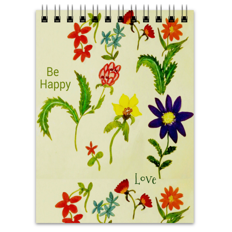 Блокнот Printio Цветы тропиков отсутствует цветы