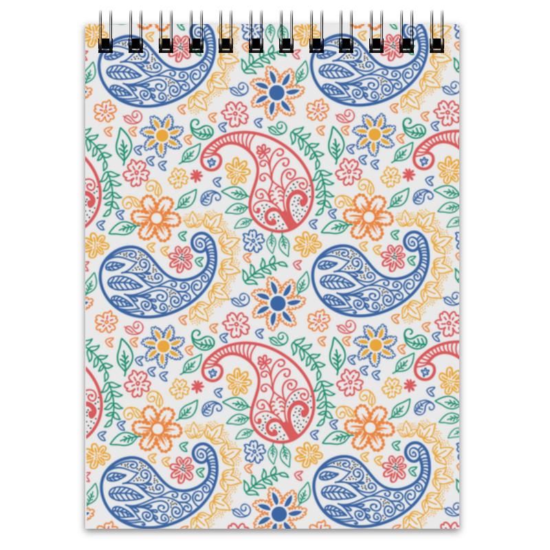 Блокнот Printio Разноцветные пейсли (индийский огурец) платье летнее printio пейсли