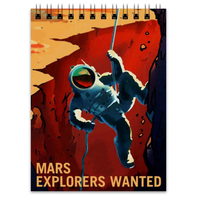 Блокнот Printio Марс ждет тебя! космос блокнот