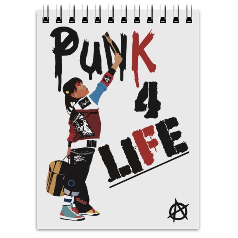 Блокнот Printio Punk 4 life printio блокнот