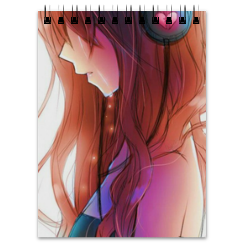 Блокнот Printio Загадочная девушка блокнот printio сонный блокнот