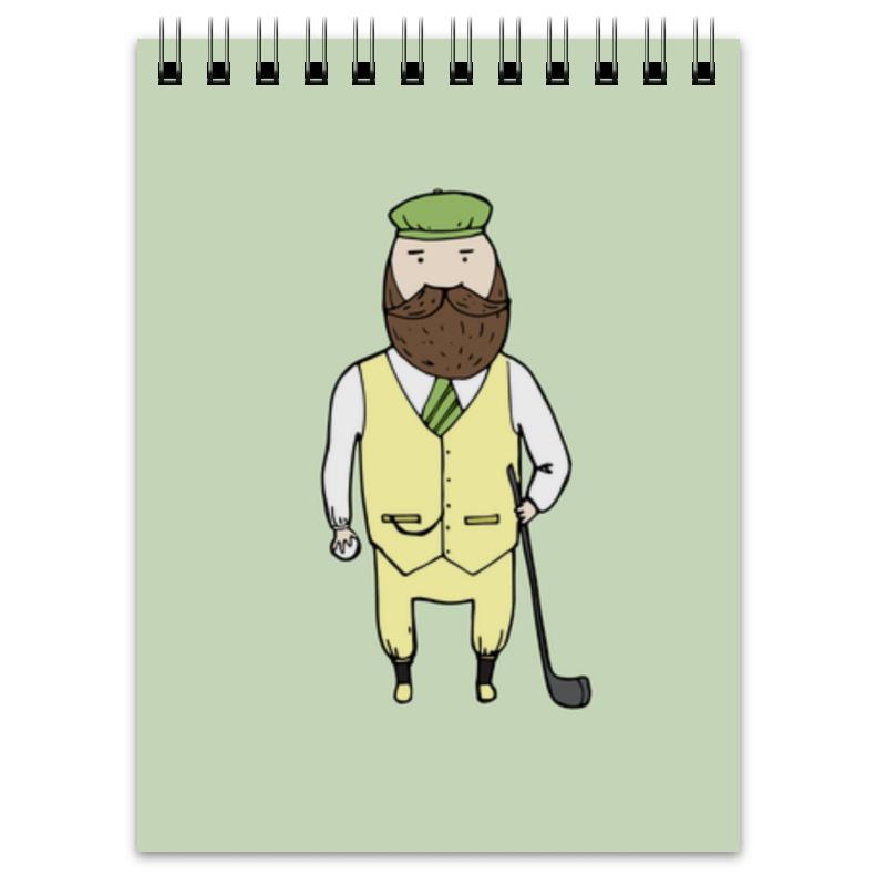 Блокнот Printio Джентльмен с клюшкой для гольфа клюшка для гольфа kennex pro