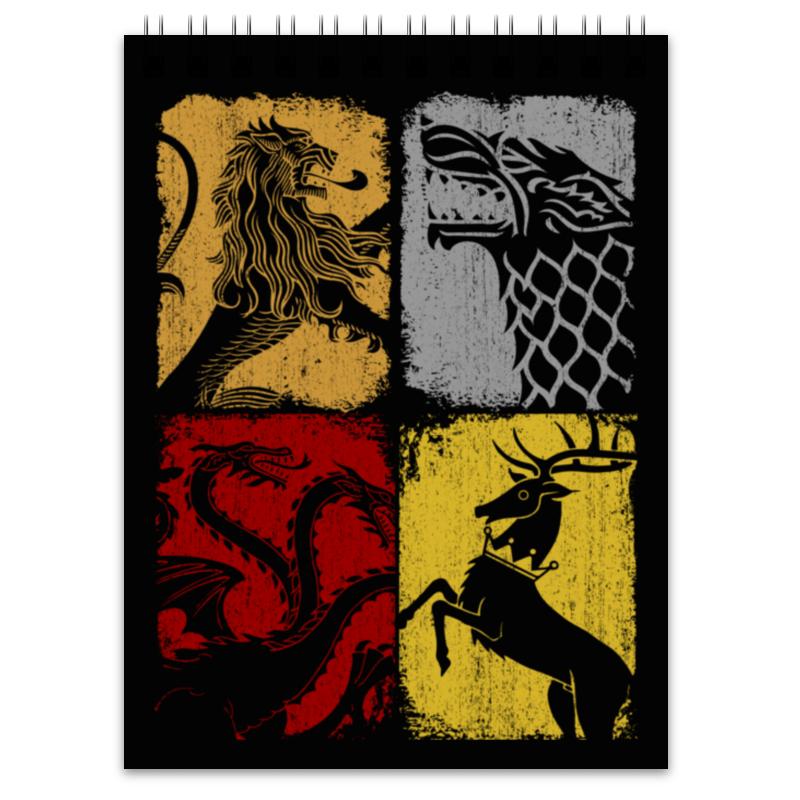 Блокнот Printio Игра престолов блокнот льда и пламени жрица огня