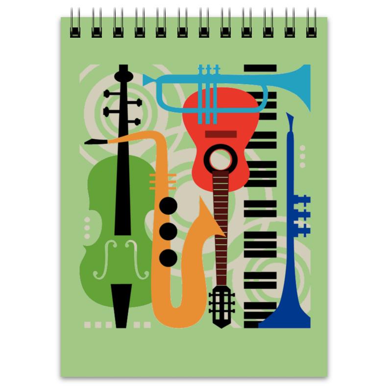 Блокнот Printio Музыкальные инструменты музыкальные инструменты юлмарт